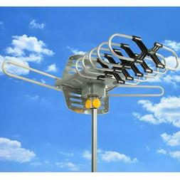 1080P HDTV 200Miles Outdoor Amplified TV Antenna 36dB Rotate