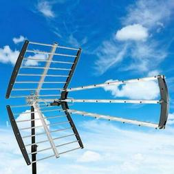 Leadzm 180mile HDTV Outdoor Amplified Antenna HD TV 16dB Rem