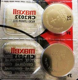 2 MAXELL CR2032 REPLACEMENT BATTERIES COMPATIBLE{*} w Apple