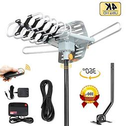 Amplified HD Digital TV Antenna - Outdoor HDTV Antenna 150 M