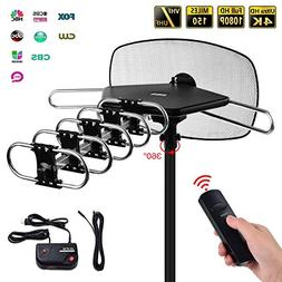 Mesqool Amplified HD Outdoor TV Antenna - 150 Mile Range Mot