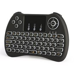 Backlight ZenzeComm 2.4G Mini Wireless Keyboard with Touchpa