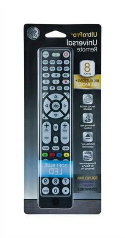 GE 8 Device Universal Remote, Backlit, Big Buttons, Works wi