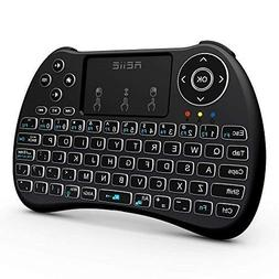 LHHY H9+ Backlit Wireless Mini Handheld Remote Keyboard wit