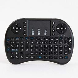 H9 2.4GHz Colorful Blacklit Mini Wireless Keyboard with Tou