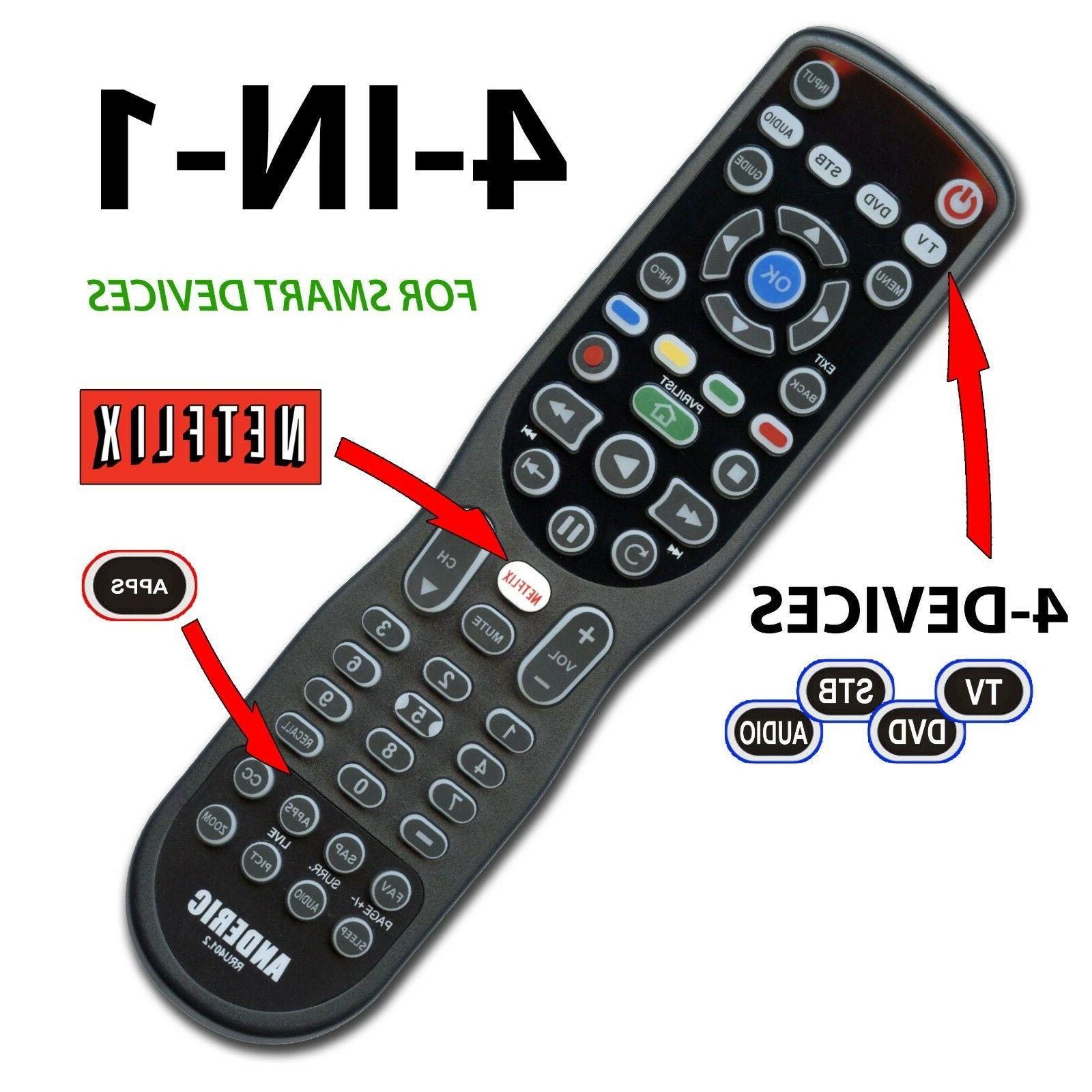4 device universal remote control for smart