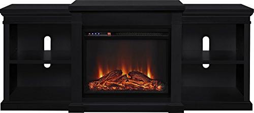 Ameriwood Home Manchester Electric Fireplace TV TVs up Black