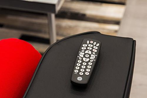 GE Device Universal Remote, Compact Design, Works with Smart Vizio, Blu DVD, DVR, Apple TV, Players, Setup, TVs,
