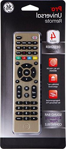 GE 4 Device Universal Remote, Works with Smart TVs, Ray, DVD, Apple TV, and Other Auto Scan, for Samsung TVs , 33710
