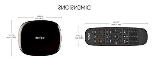 Logitech All in One Remote for Home Entertainment Devices, Hub & – Black