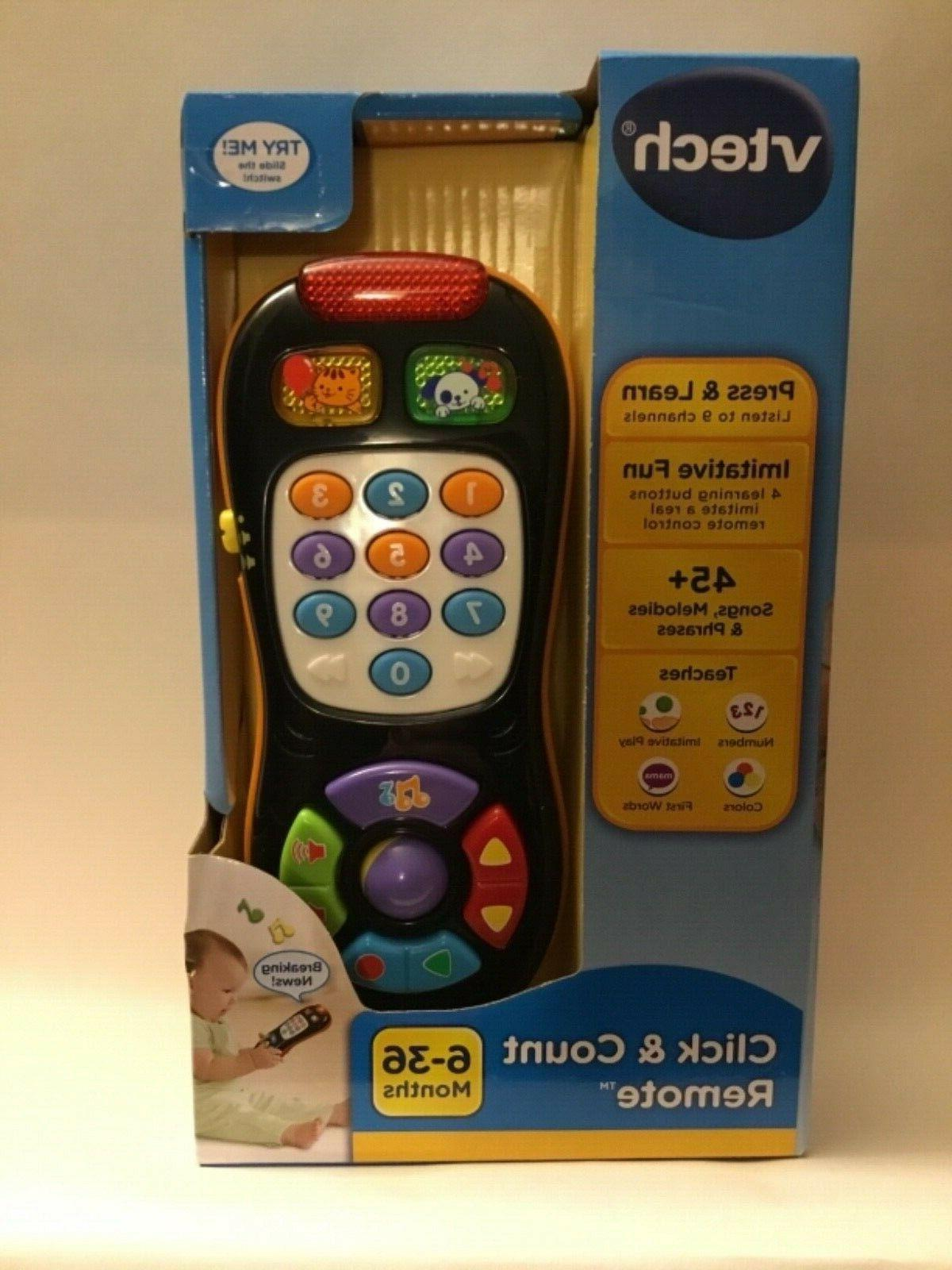 click and count remote developmental baby toys