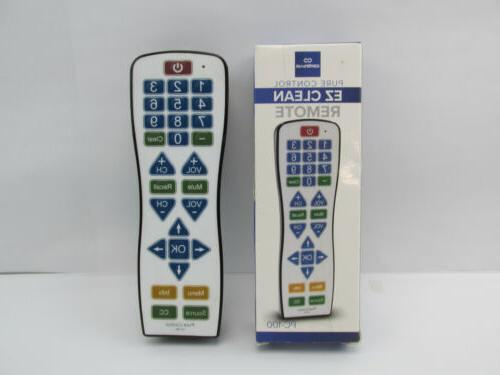 Water Resistant Universal TV Remote – EasyClean PC100 Smar