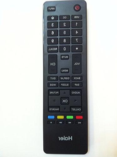 haier tv remote control htr