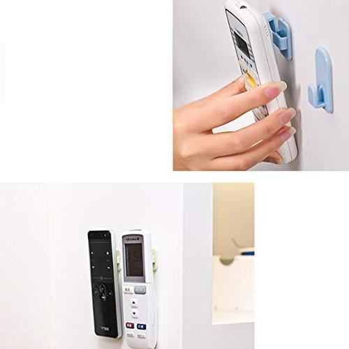 Remote 8 Wall White Storage Hook withSelfAdhesives and Hanged Tv Air