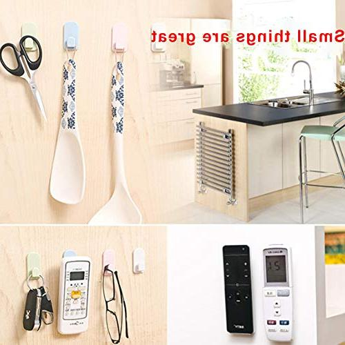 Remote Control Hook 8 Wall Plastic White Storage withSelfAdhesives and Tv Air Organizer