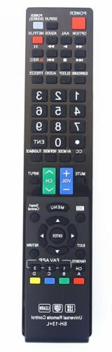 Sharp GB004WJSA Universal Remote Control for All BRAND TV, S