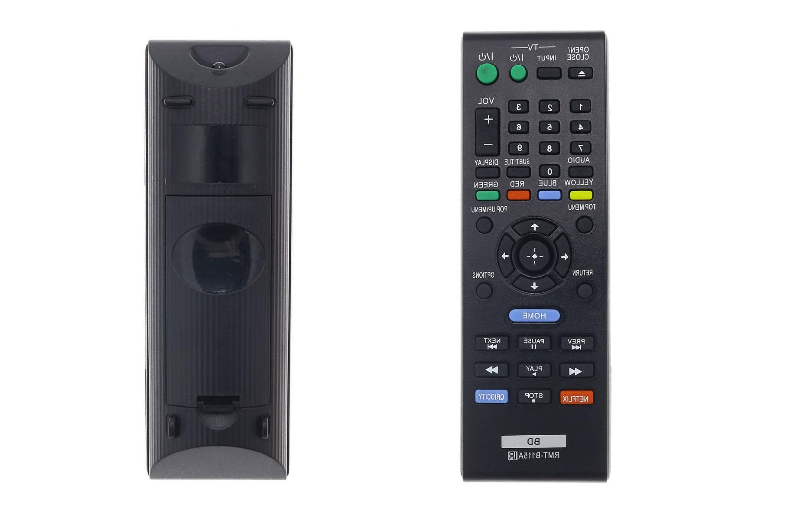 sony blu ray replaced remote rmt b115a