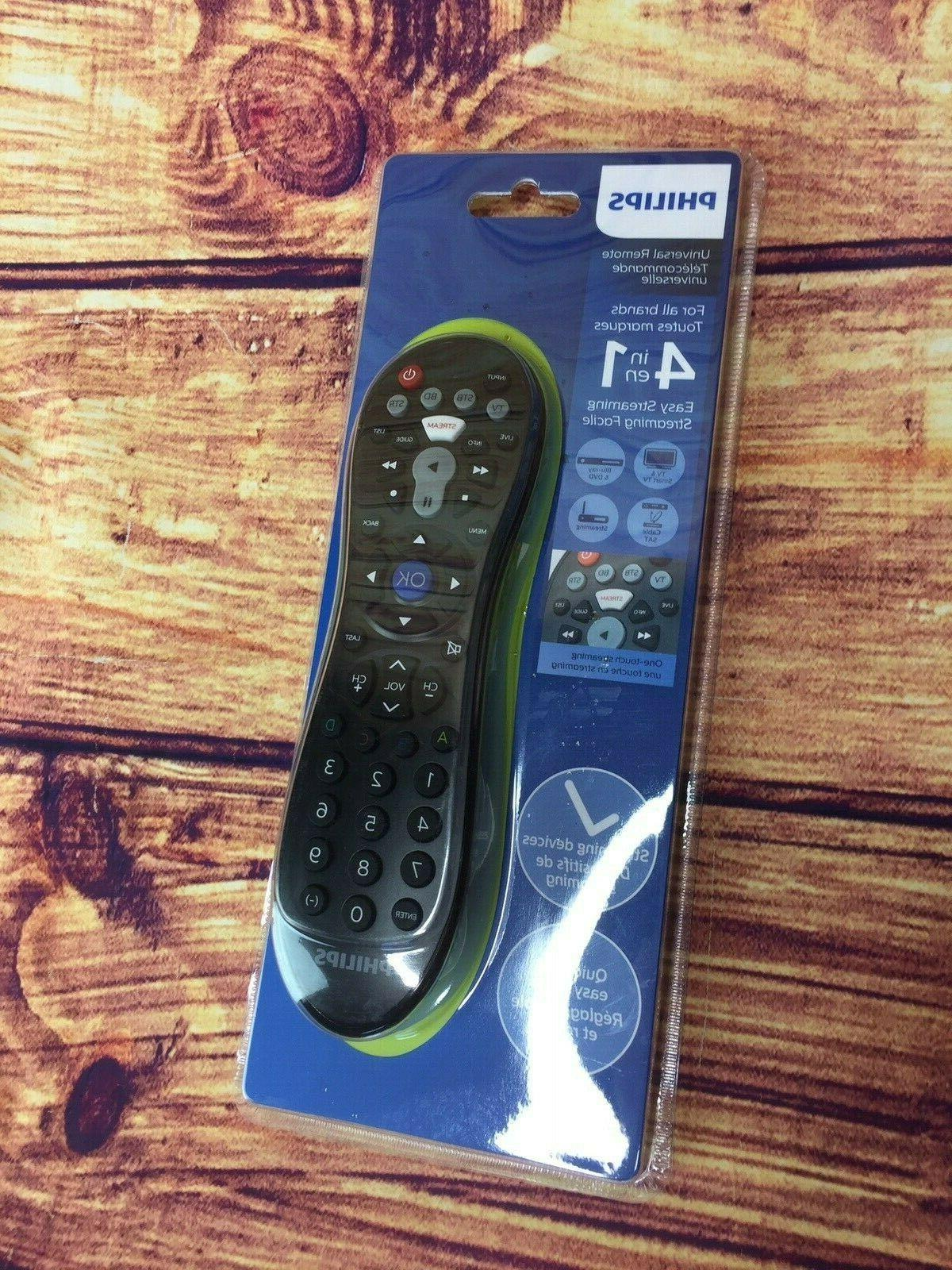Philips SRP3014/27 4-in-1 Universal Remote Control, Black