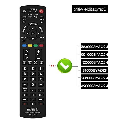 Gvirtue Universal Remote CompatibleReplacement TV/Viera Link/HDTV/ 3D/ LCD/LED, Applicable N2QAYB000485 N2QAYB000100