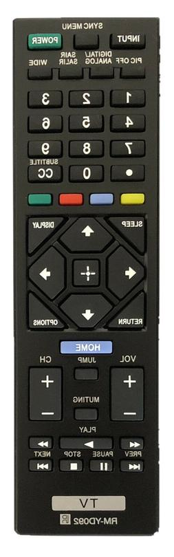 NEW Remote RM-YD092 for Sony Bravia TV KDL-32R400A KDL-40R45