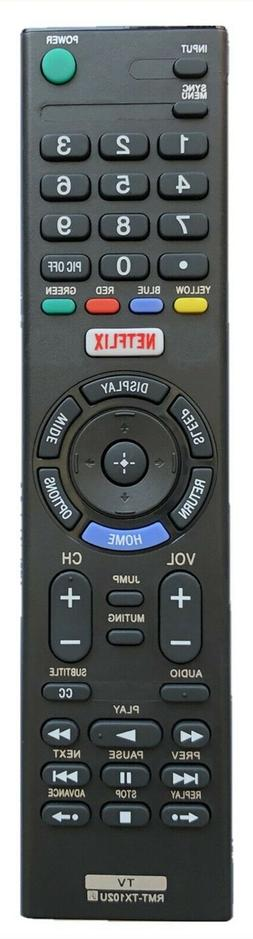 New USBRMT Remote RMT-TX100U For Sony KDL-75W850C XBR-75X940