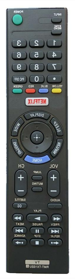 GHYREX New Remote RMT-TX100U For Sony TV XBR65X930 XBR65X930