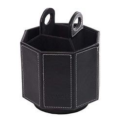 Daixers PU Leather Rotatable Remote Control Holder Storage C