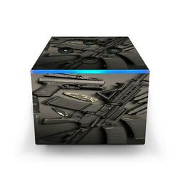 Skin Decal for Amazon Fire TV CUBE + REMOTE / EDC AR Pistol