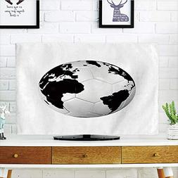 iPrint LCD TV dust Cover Strong Durability,Sports Decor,Socc