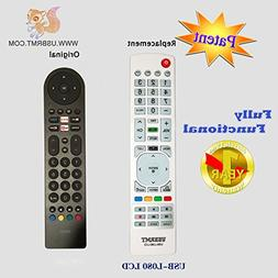 USBRMT Universal Replacement TV Remote for RCA Smart TV Blac