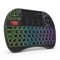 Rii X8 2.4GHz Mini Wireless Keyboard with Touchpad Mouse Co